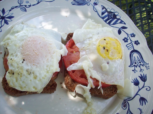 Egg, tomato and toast (Eat Me. Drink Me.)
