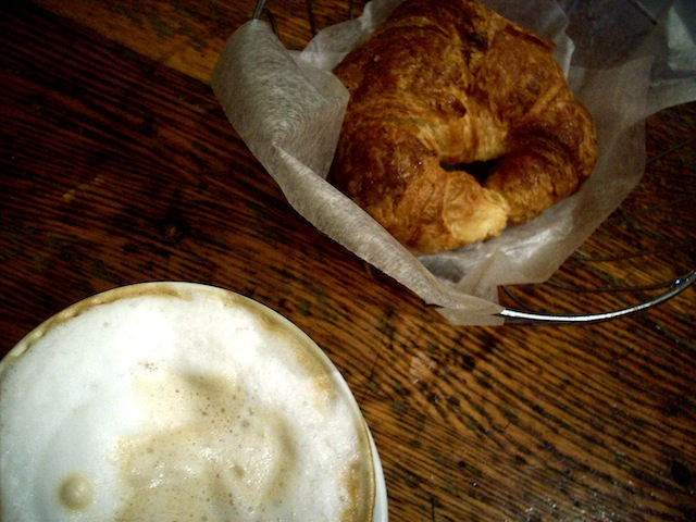 Cappuccino and croissant (Eat Me. Drink Me.)