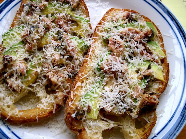 Avocado and sardine toasts (Eat Me. Drink Me.)