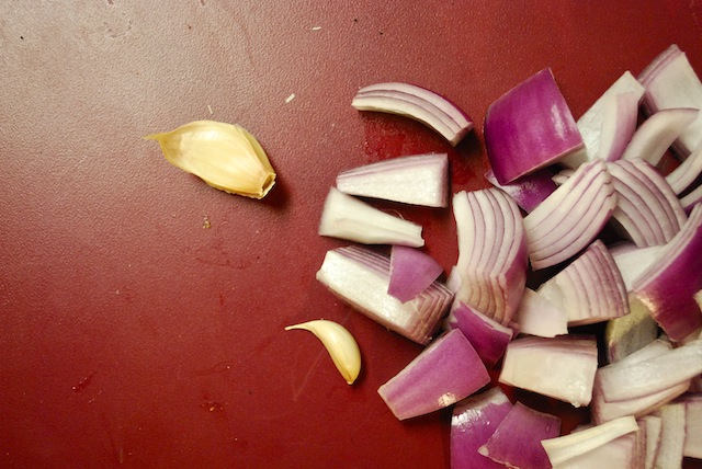 Chopped onion (Eat Me. Drink Me.)