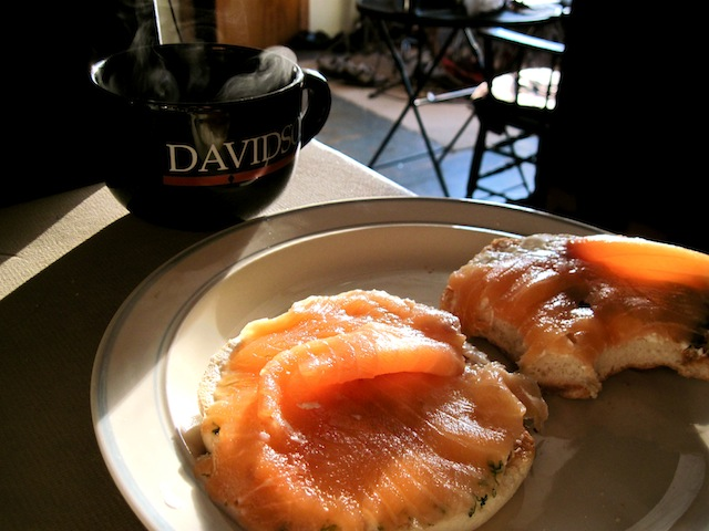Bagels with lox (Eat Me. Drink Me.)