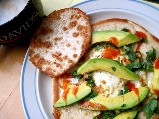 Egg-in-pita with avocado (Eat Me. Drink Me.)