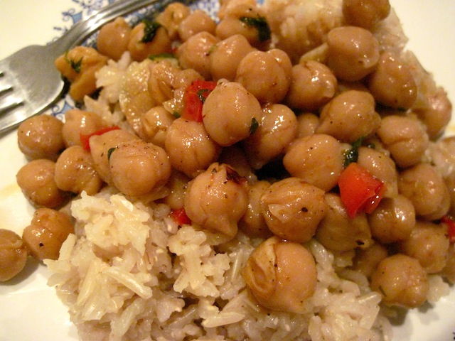 Chickpeas and rice (Eat Me. Drink Me.)