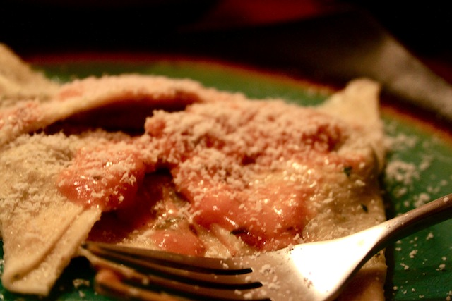 Sweet potato and spinach ravioli (Eat Me. Drink Me.)