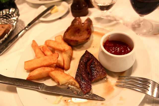 Ox tongue and chips (Eat Me. Drink Me.)