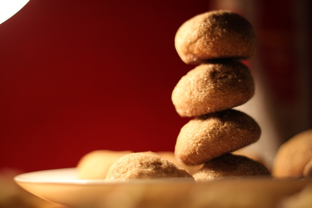leaning tower of gingersnaps (Eat Me. Drink Me)