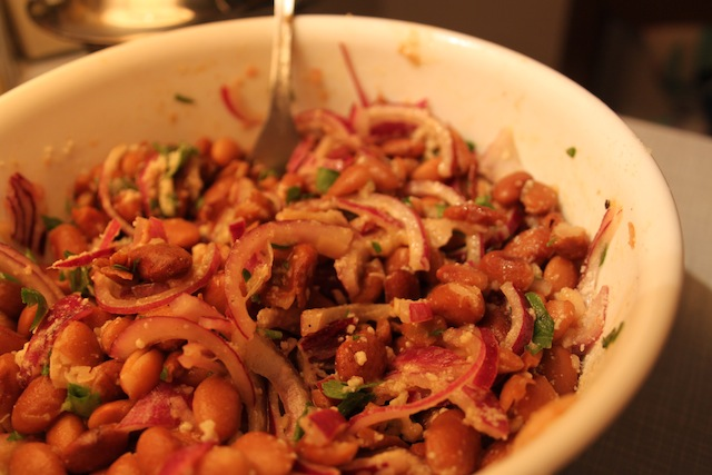 bean salad with red onions and parsley (Eat Me. Drink Me.)