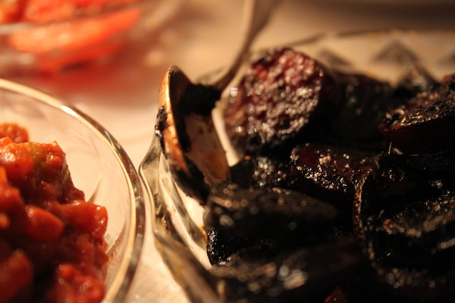 chorizo simmered in red wine (Eat Me. Drink Me.)