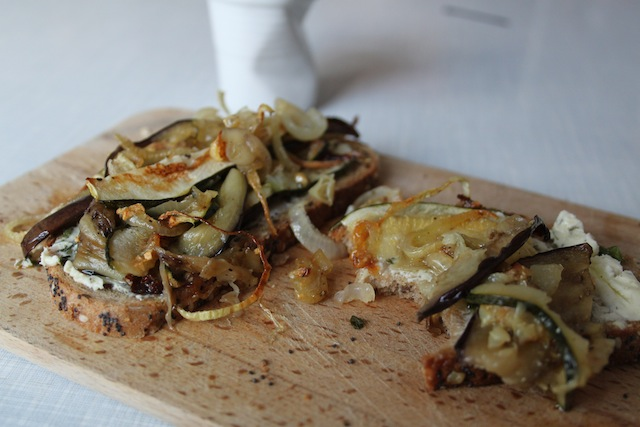 open-faced roast vegetable sandwich (Eat Me. Drink Me.)