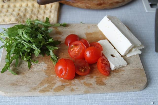 arugula, tomato, feta (Eat Me. Drink Me.)