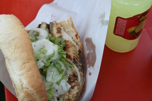 freshly grilled fish sandwich (Eat Me. Drink Me.)
