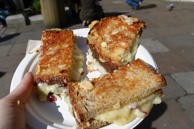 grilled cheese from Borough Market, London (Eat Me. Drink Me.)