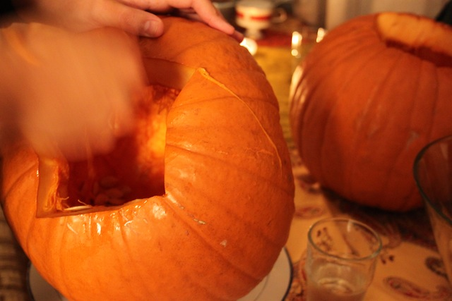 carving pumpkins (Eat Me. Drink Me.)