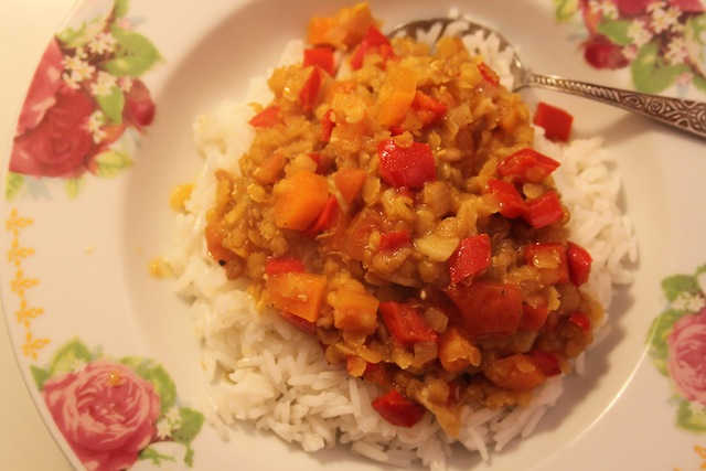easy winter lentil stew with rice recipe (Eat Me. Drink Me.)