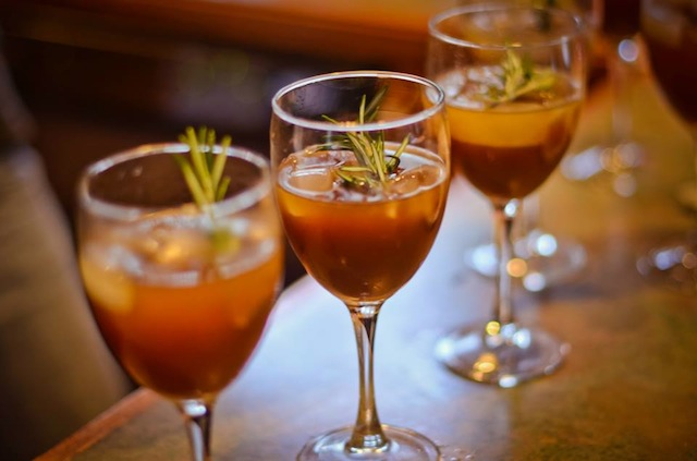 Garnished with rosemary (Eat Me. Drink Me.)