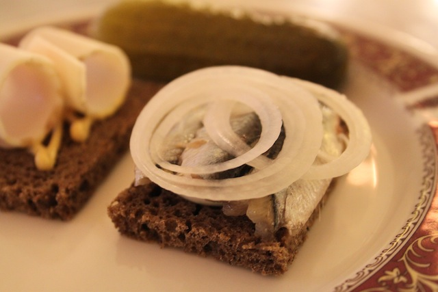 Herring, pork fat and pickle (Eat Me. Drink Me.)