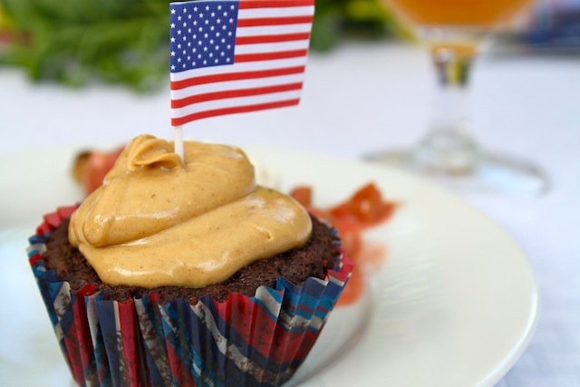 Peanut butter brownie cupcake (Eat Me. Drink Me.)