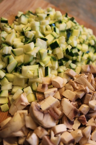 Zucchini and mushroom (Eat Me. Drink Me.)