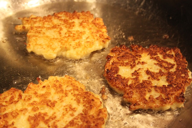 Cauliflower fritters in oil (Eat Me. Drink Me.)