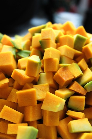 Cubed pumpkin (Eat Me. Drink Me.)