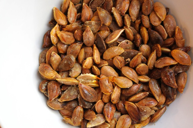 Roasted pumpkin seeds (Eat Me. Drink Me.)