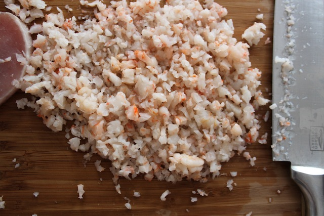 Minced shrimp (Eat Me. Drink Me.)
