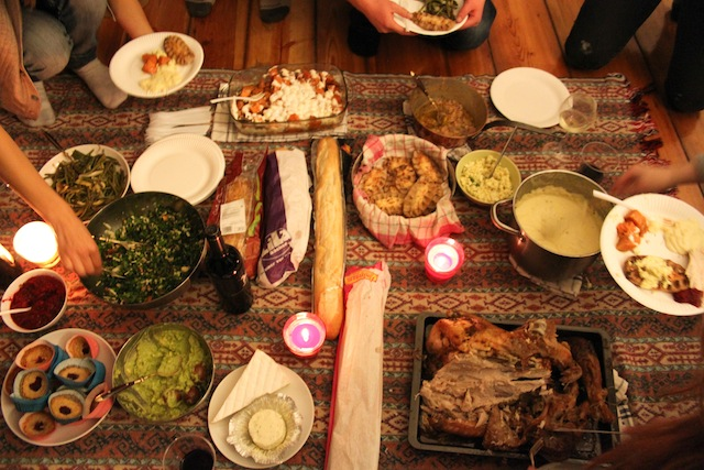 Thanksgiving spread (Eat Me. Drink Me.)