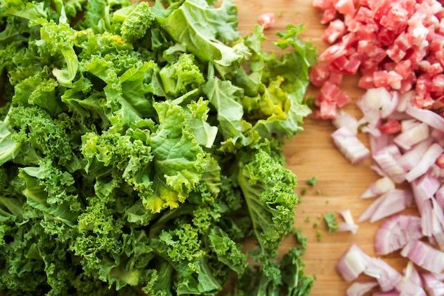 Kale, shallot, pancetta (Eat Me. Drink Me.)