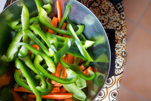 Green peppers and carrots (Eat Me. Drink Me.)