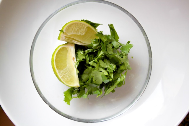 Lime and cilantro to garnish (Eat Me. Drink Me.)