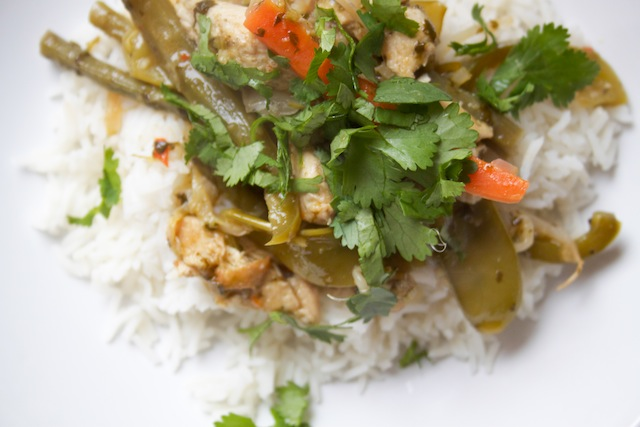 Thai green curry, plated (Eat Me. Drink Me.)