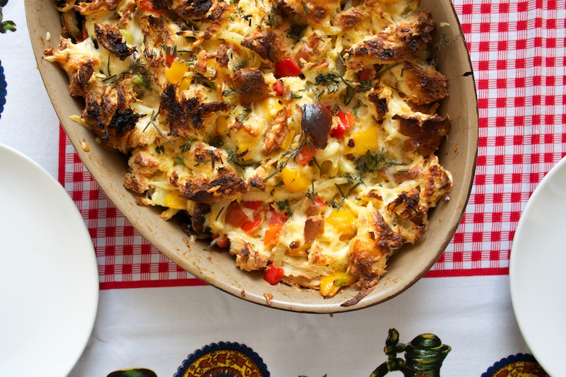 Fennel, pepper and sausage breakfast casserole (Eat Me. Drink Me.)