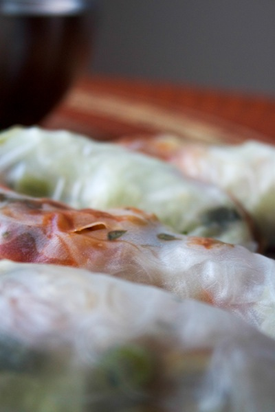 Beautiful row of summer rolls (Eat Me. Drink Me.)