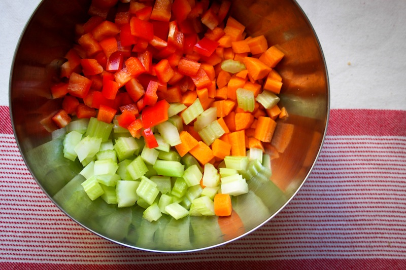 Chopped vegetables (Eat Me. Drink Me.)