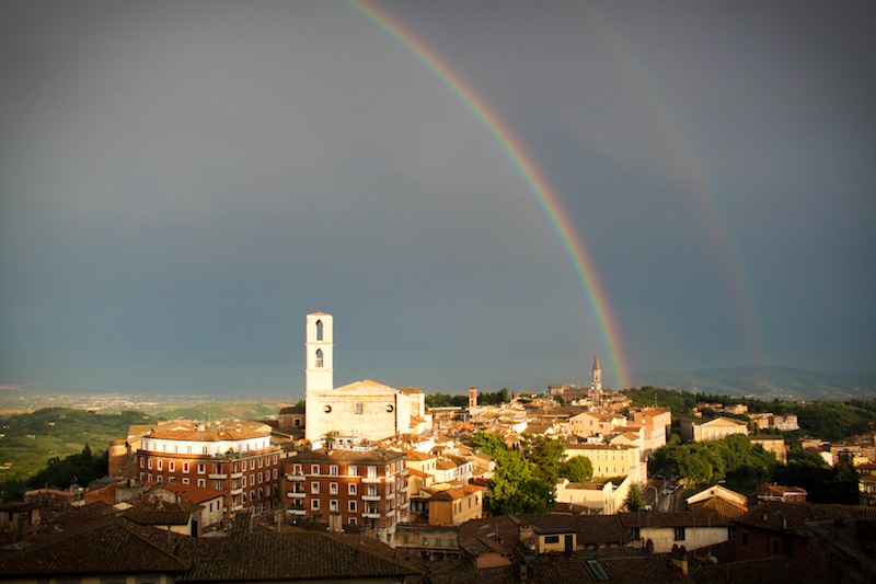 Double rainbow in Perugia (Eat Me. Drink Me.)