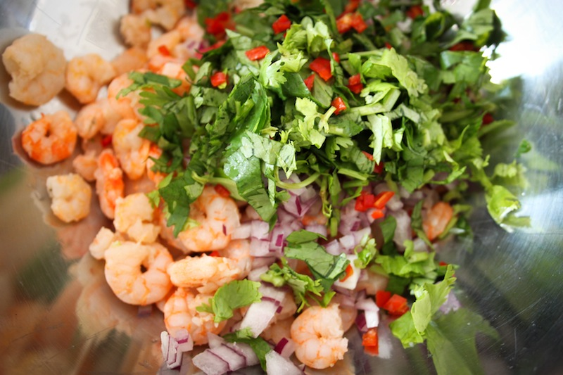 Ceviche with shrimp (Eat Me. Drink Me.)