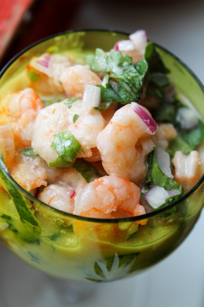 Shrimp ceviche with lime (Eat Me. Drink Me.)