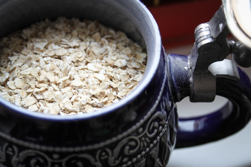 Oats in a beer stein (Eat Me. Drink Me.)