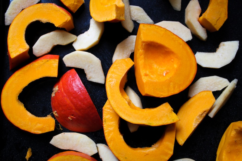Roasting pumpkin and quince (Eat Me. Drink Me.)