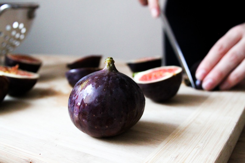 Cutting figs for a galette (Eat Me. Drink Me.)
