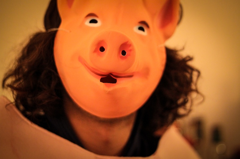 One of the three little pigs (Eat Me. Drink Me.)