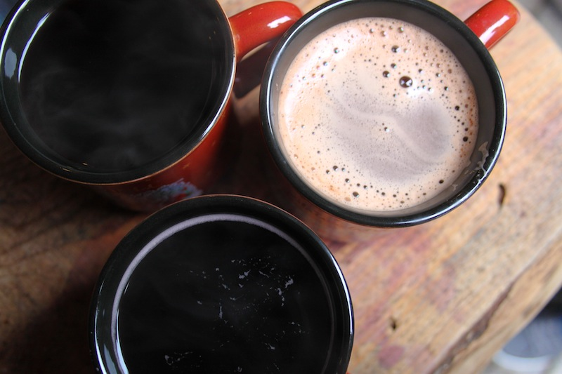 Glühwein and hot chocolate (Eat Me. Drink Me.)