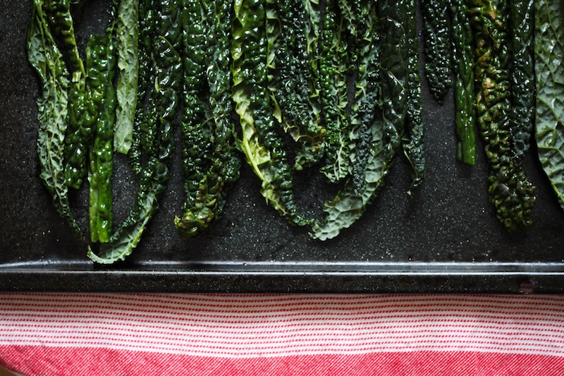 Kale chips, ready to bake (Eat Me. Drink Me.)