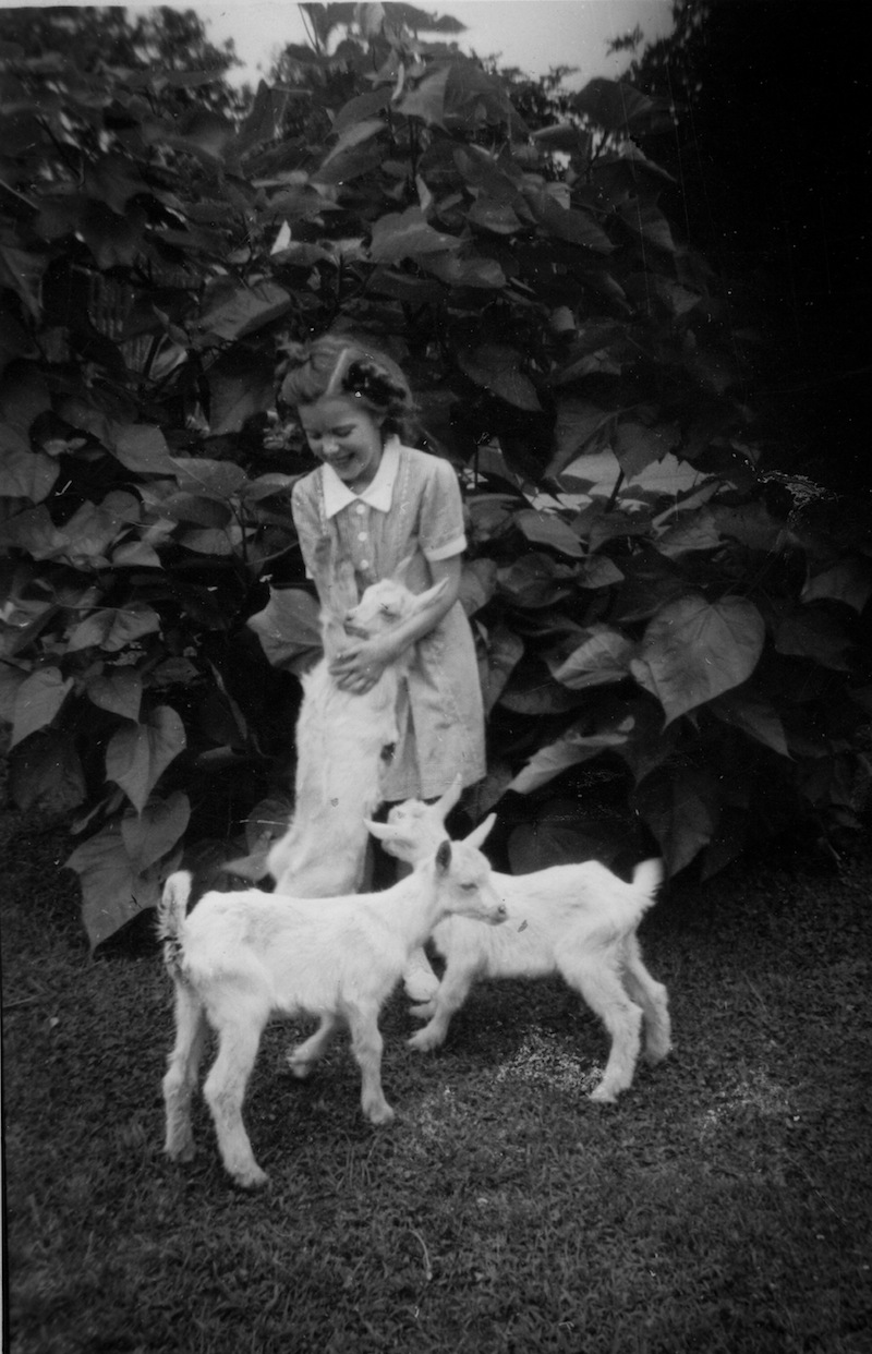 Grandma with goats, circa 1945 (Eat Me. Drink Me.)