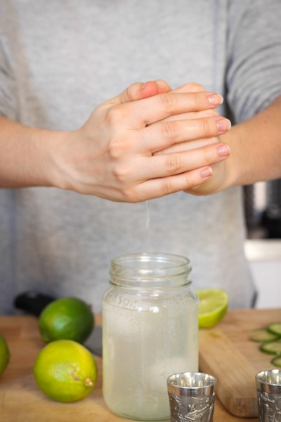 Squeezing lime juice (Eat Me. Drink Me.)