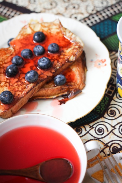 Earl Grey French toast with blueberries (Eat Me. Drink Me.)