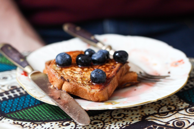 French toast with blueberries and syrup (Eat Me. Drink Me.)