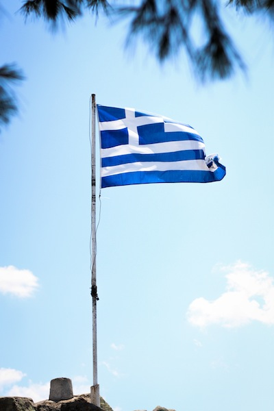 The Greek flag (Eat Me. Drink Me.)