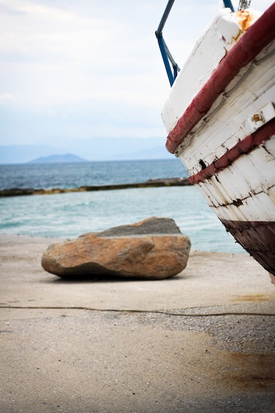 A boat on the Greek islands (Eat Me. Drink Me.)