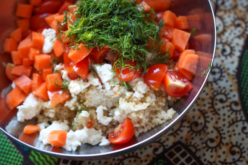 Quick bulgur salad (Eat Me. Drink Me.)